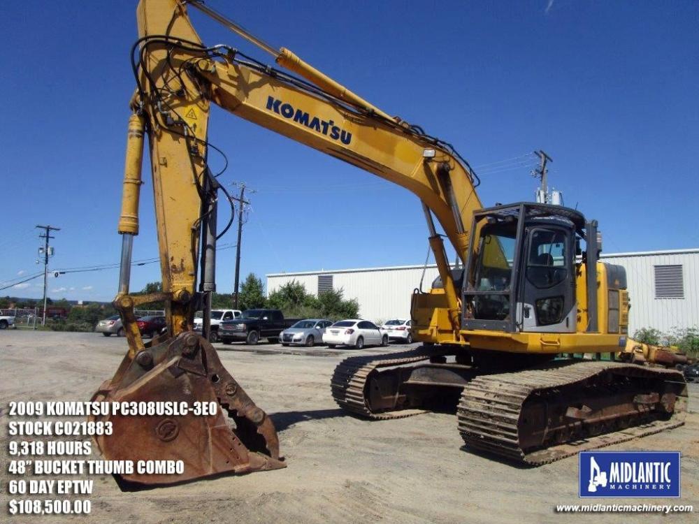 Detail photo of 2009 Komatsu PC308USLC-3E0 from Construction Equipment Guide