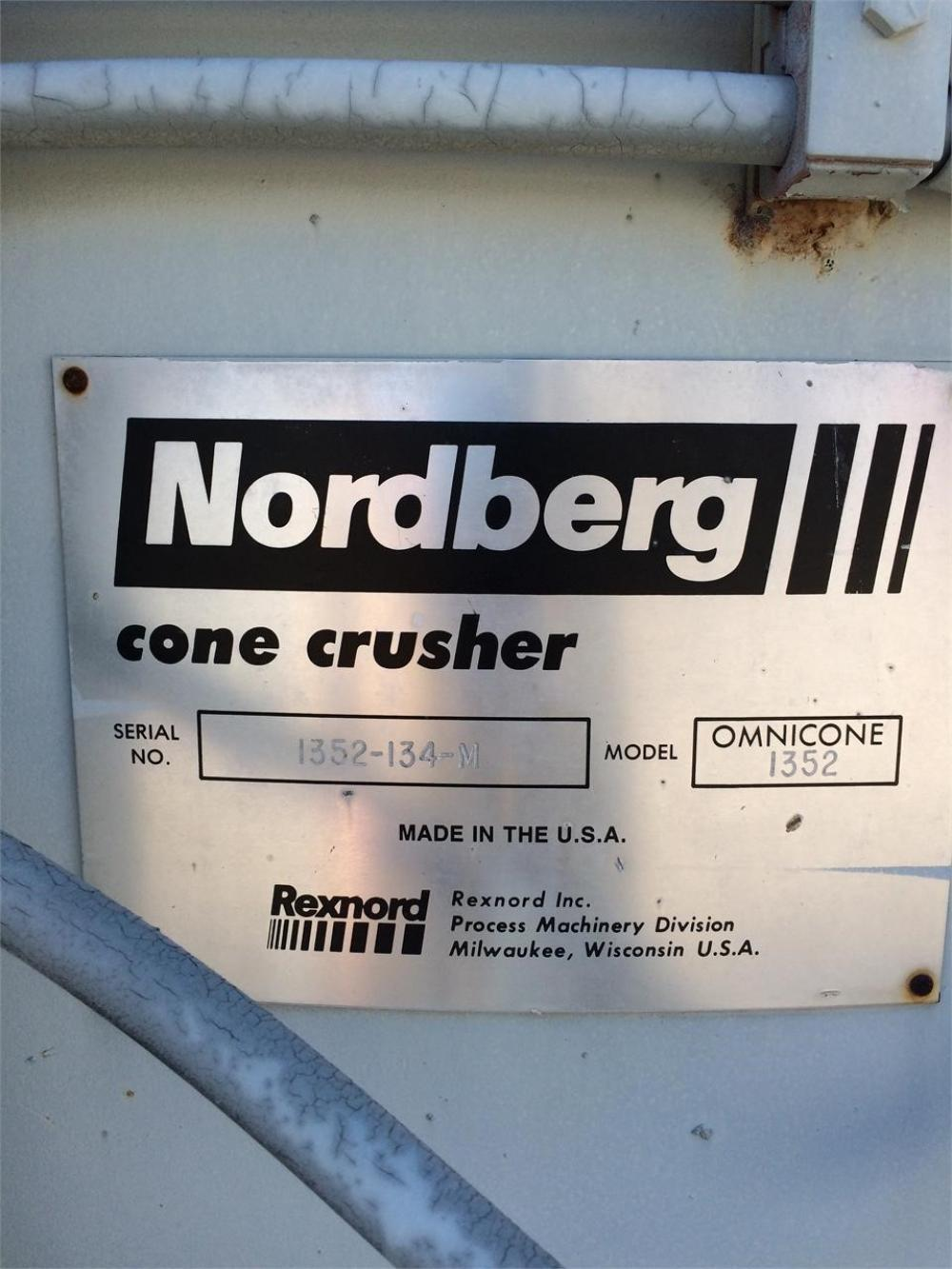 Detail photo of 1990 Nordberg 1352 OMNICONE from Construction Equipment Guide