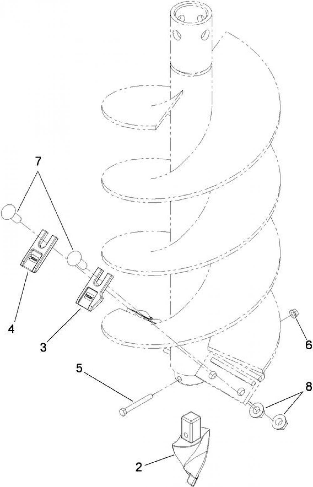 Detail photo of  Toro 12IN. AUGER BIT from Construction Equipment Guide