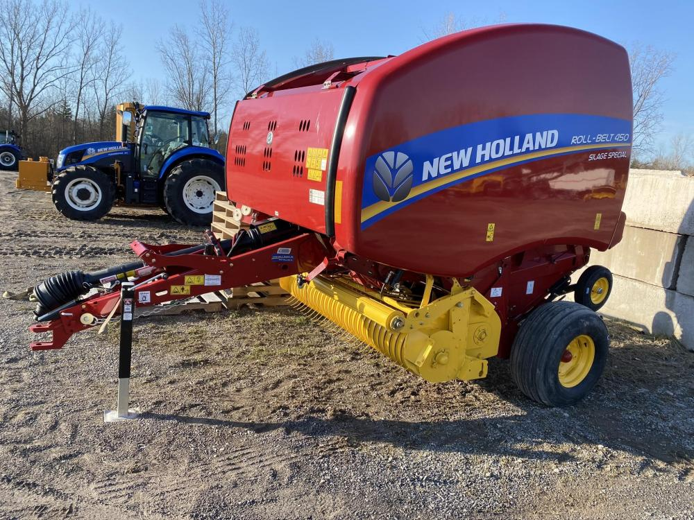 Detail photo of  New Holland ROLL-BELT 450 from Construction Equipment Guide