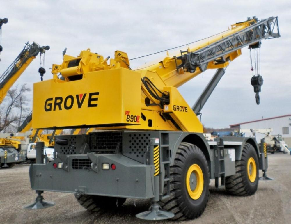 Detail photo of 2008 Grove RT890E from Construction Equipment Guide