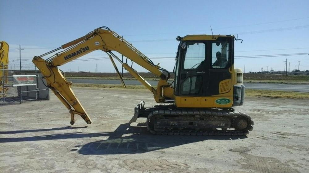 Detail photo of 2012 Komatsu PC88MR-8 from Construction Equipment Guide