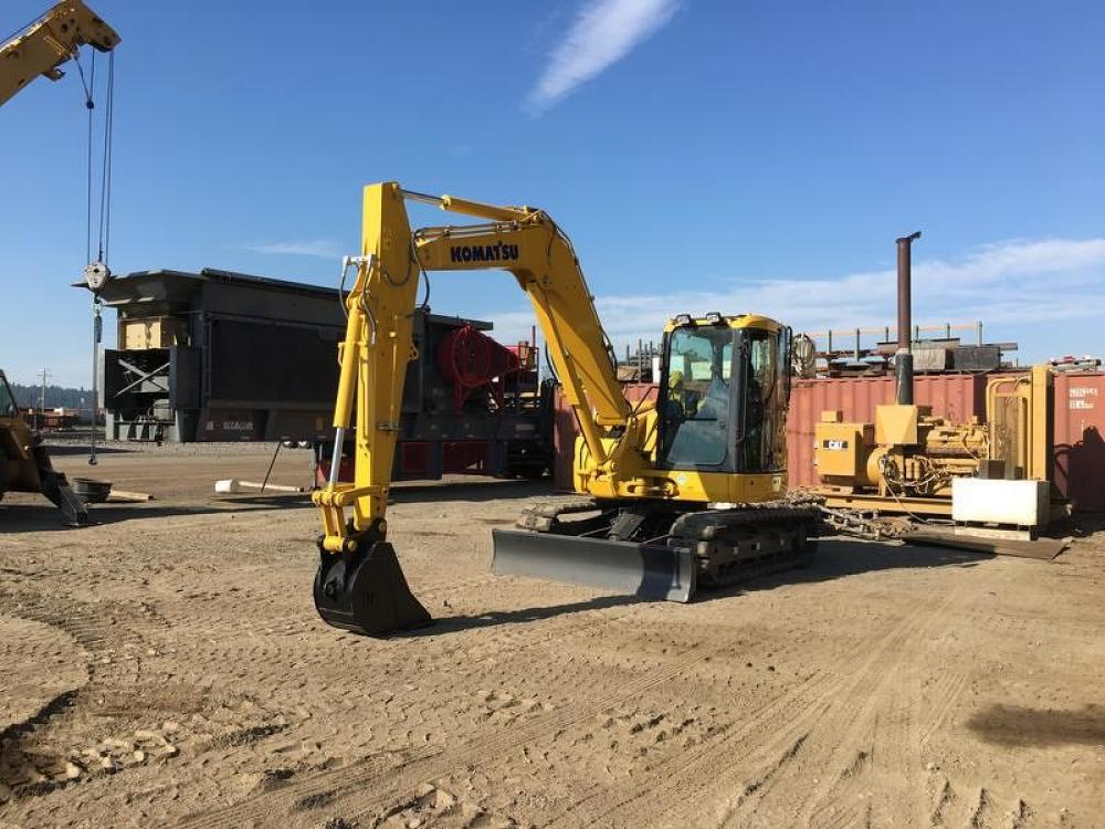 Detail photo of 2018 Komatsu PC88MR-10 from Construction Equipment Guide