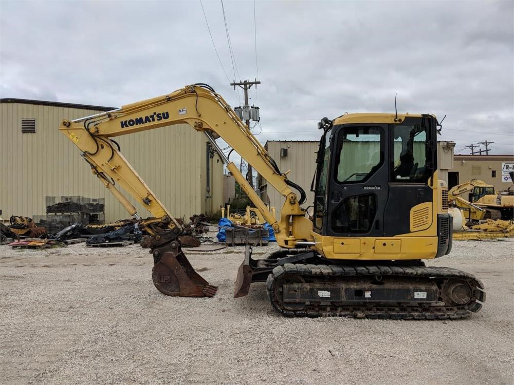 Detail photo of 2008 Komatsu PC88MR-8 from Construction Equipment Guide