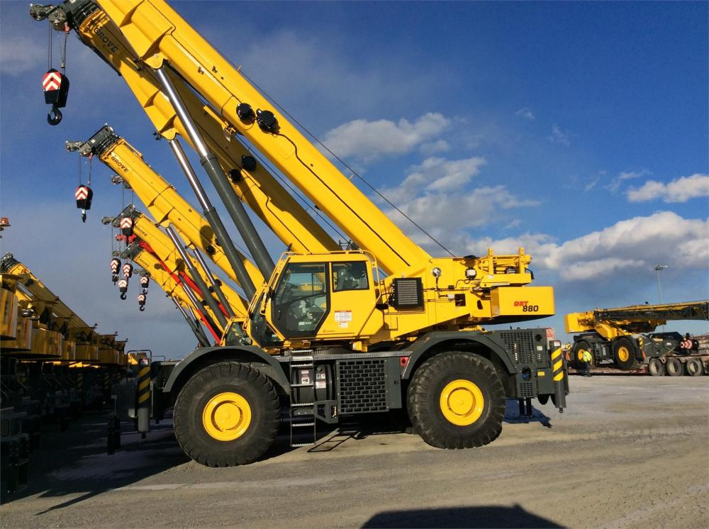 Detail photo of 2019 Grove GRT880 from Construction Equipment Guide
