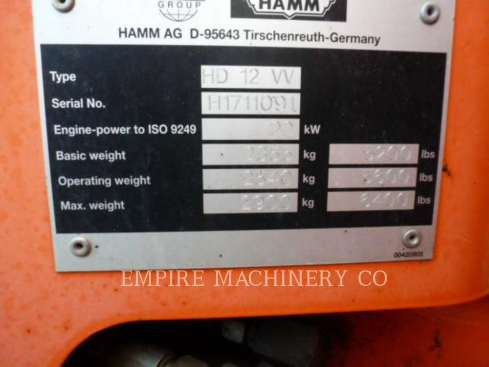 Detail photo of 2008 Hamm HD 12 from Construction Equipment Guide