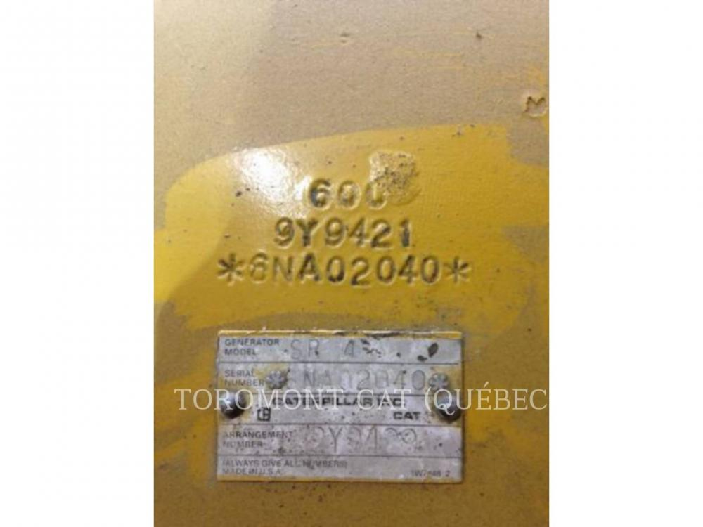 Detail photo of 1990 Caterpillar SR4 750KW 600V from Construction Equipment Guide