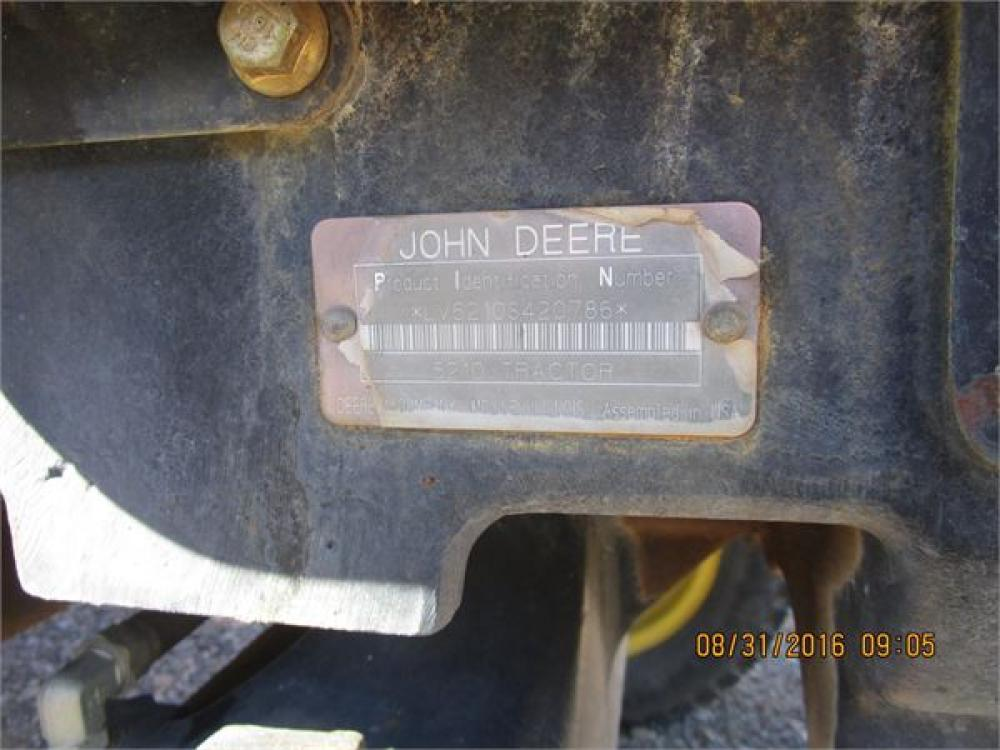 Detail photo of 1998 John Deere 5210 from Construction Equipment Guide