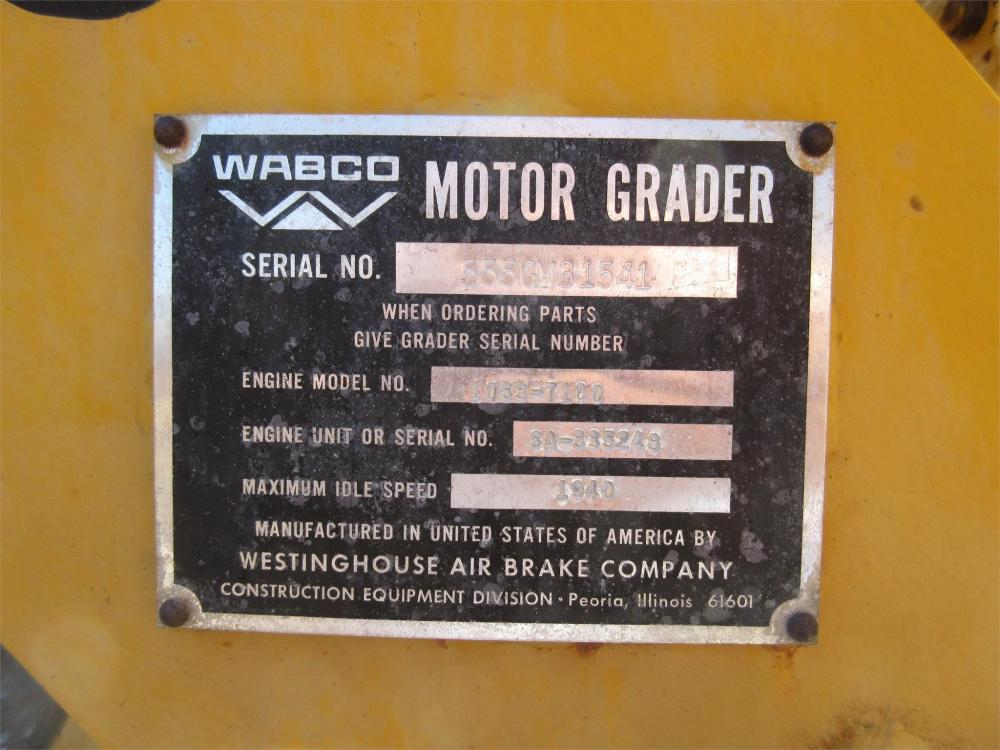 Detail photo of 1978 Wabco 555 from Construction Equipment Guide
