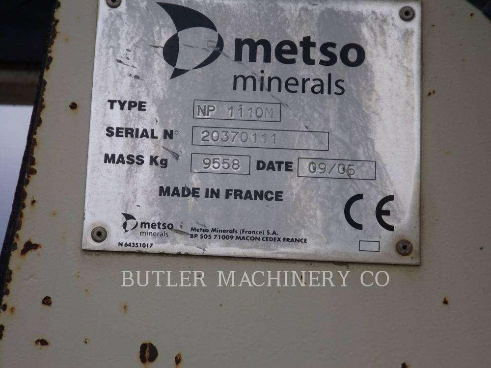 Detail photo of 2006 Metso LT1110S from Construction Equipment Guide