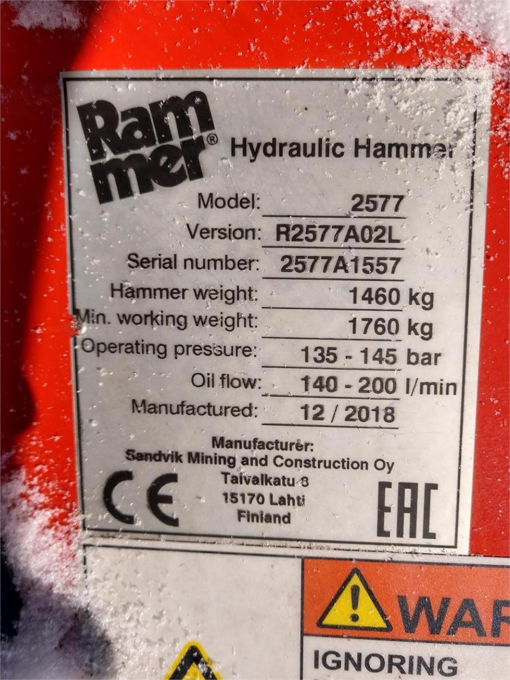 Detail photo of 2019 Rammer BR2577 from Construction Equipment Guide