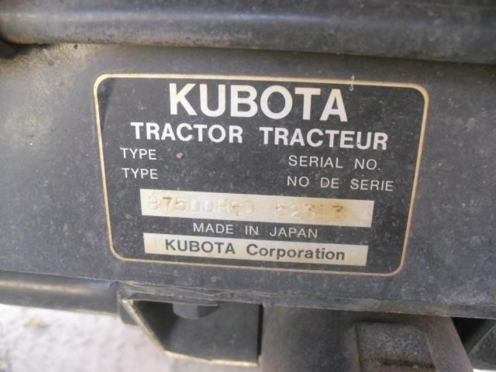 Detail photo of 2000 Kubota B7500HSD from Construction Equipment Guide