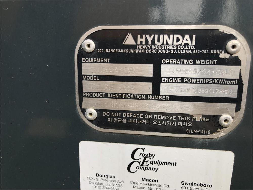 Detail photo of 2018 Hyundai HX235 LCR from Construction Equipment Guide