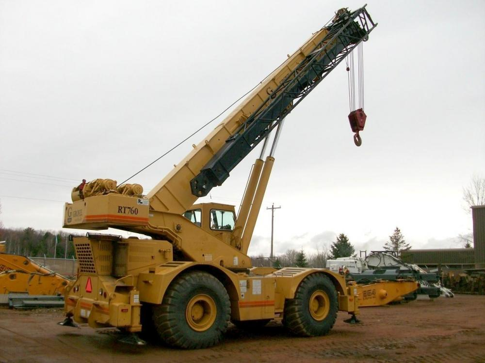 Detail photo of 1993 Grove RT760 from Construction Equipment Guide