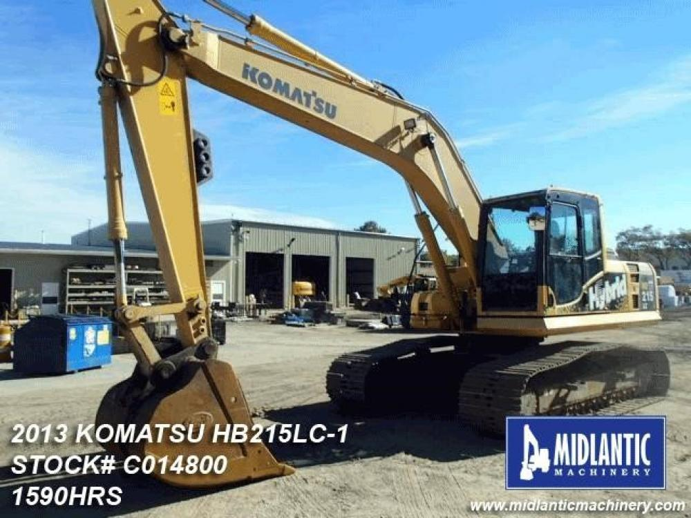 Detail photo of 2013 Komatsu HB215 LC-1 from Construction Equipment Guide