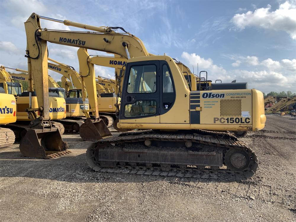 Detail photo of 2002 Komatsu PC150LC-6K from Construction Equipment Guide
