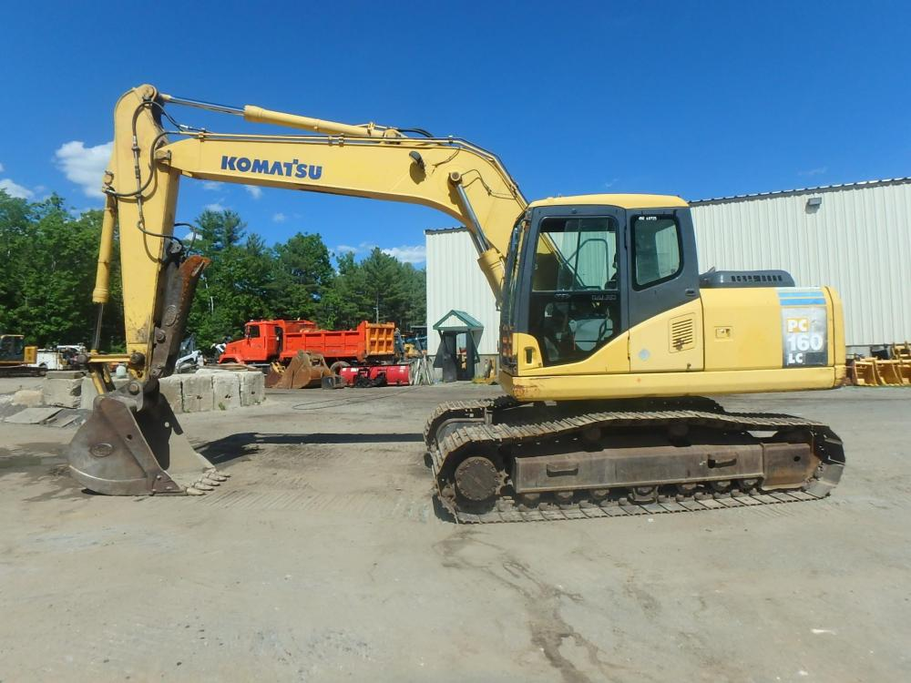 Detail photo of 2003 Komatsu PC160 LC-7 from Construction Equipment Guide