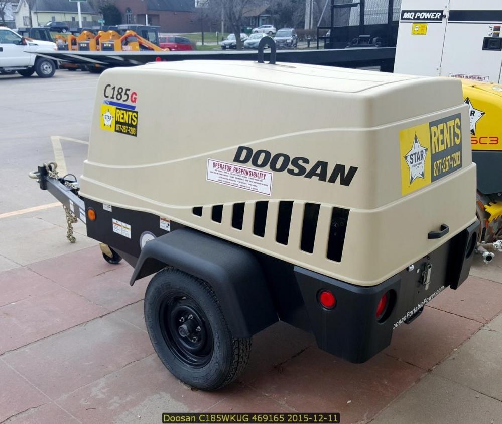 Detail photo of 2015 Doosan Portable Power C185WKUBG from Construction Equipment Guide