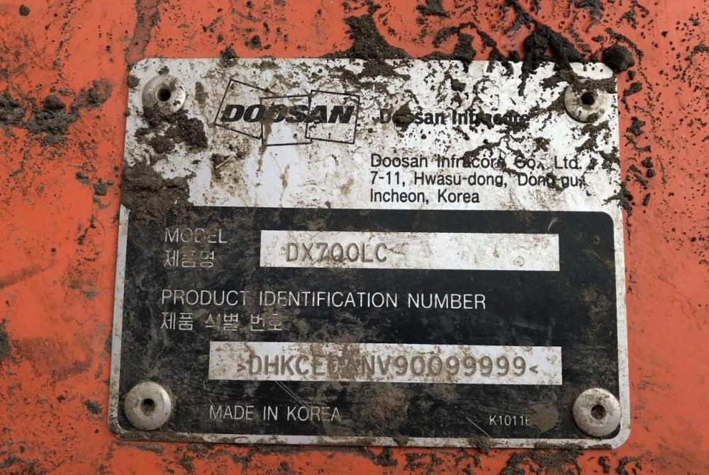 Detail photo of 2015 Doosan DX700LC from Construction Equipment Guide