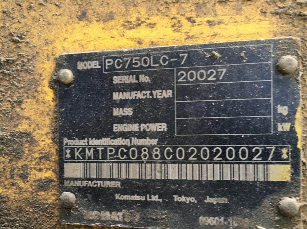 Detail photo of 2004 Komatsu PC750LC-7 from Construction Equipment Guide