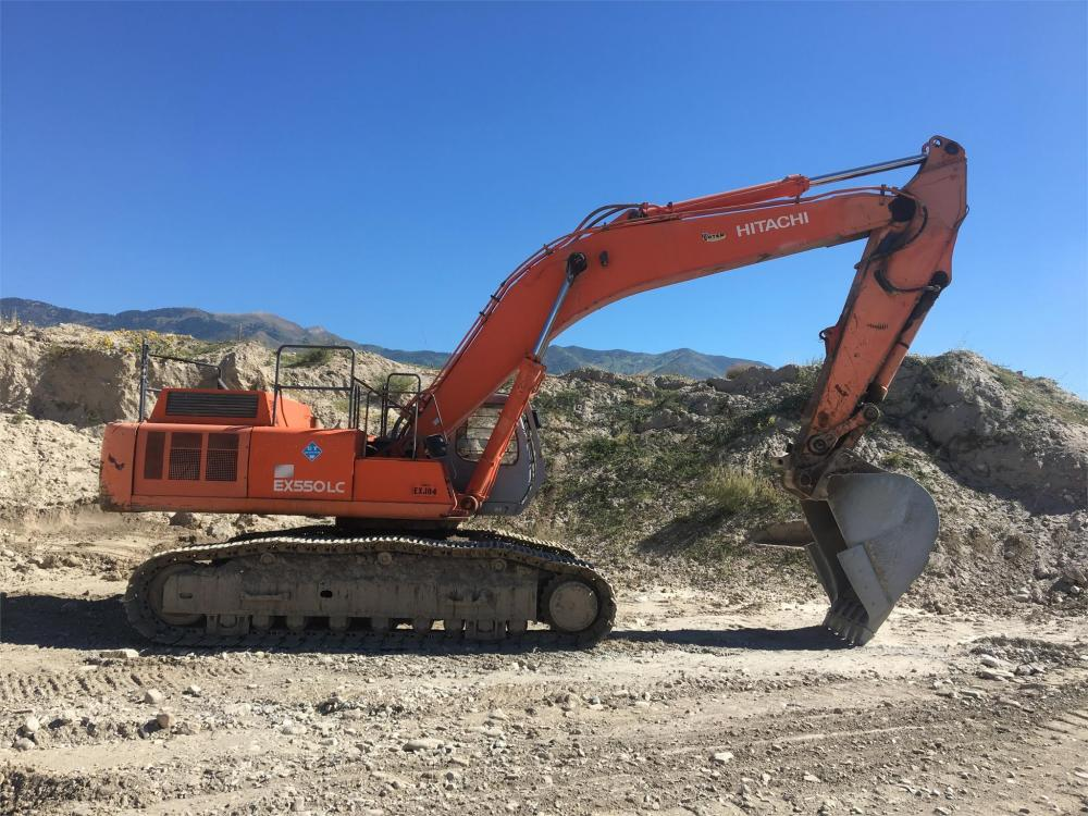 Detail photo of 1998 Hitachi EX550LCE-5 from Construction Equipment Guide