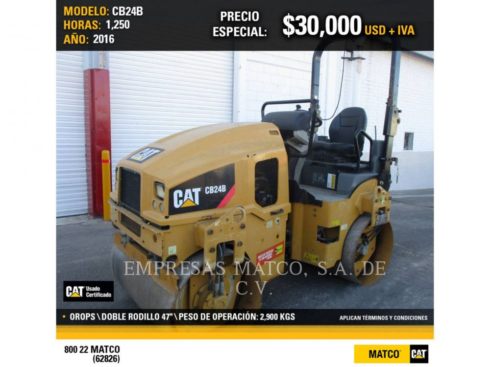 Detail photo of 2014 Caterpillar CB24 from Construction Equipment Guide