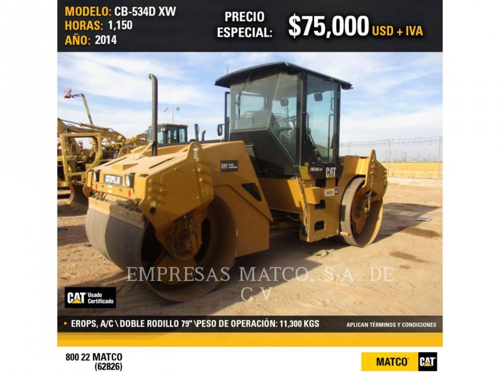 Detail photo of 2014 Caterpillar CB534D from Construction Equipment Guide