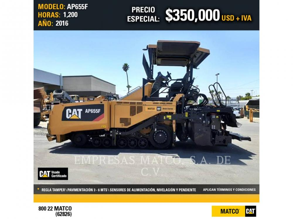 Detail photo of 2016 Caterpillar AP655F from Construction Equipment Guide