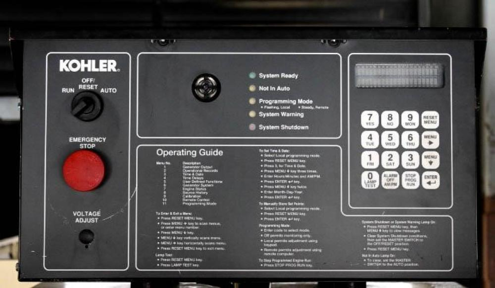 Detail photo of 2000 Kohler 1250 KW from Construction Equipment Guide
