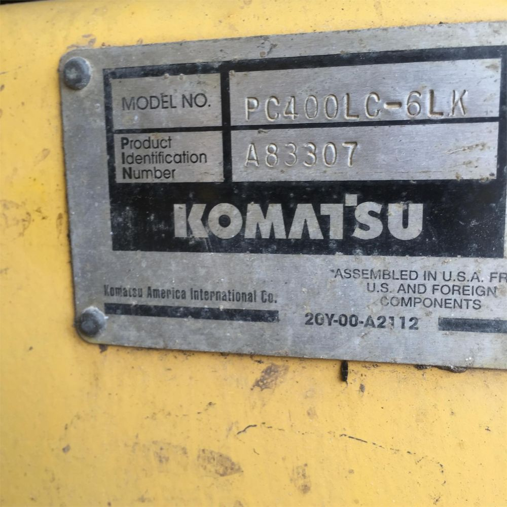 Detail photo of  Komatsu PC400LC-6 from Construction Equipment Guide