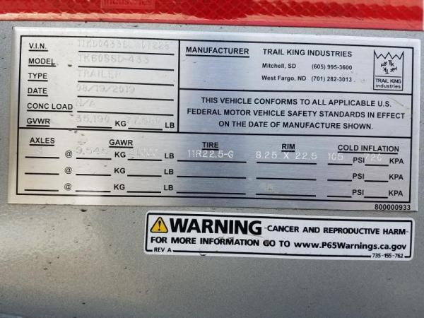 Detail photo of 2019 Trail King TK60SSD from Construction Equipment Guide