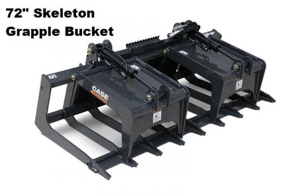 Detail photo of 2018 Case 72 IN. SKELETON GRAPPLE BUCKET from Construction Equipment Guide