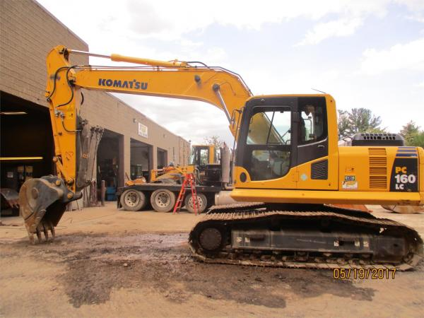 Detail photo of 2014 Komatsu PC160 LC-8 from Construction Equipment Guide