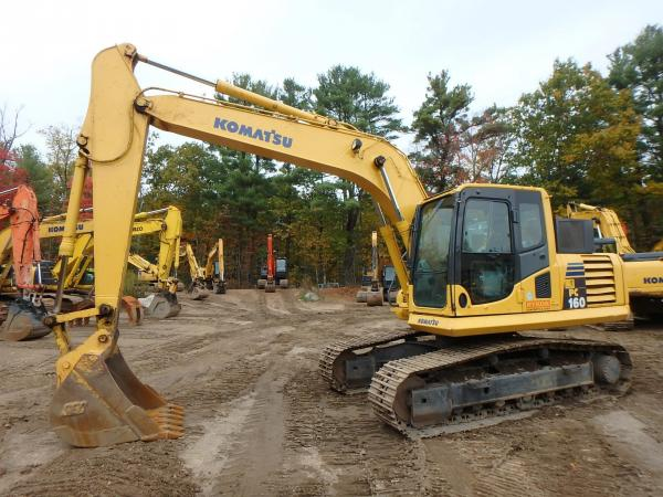 Detail photo of 2011 Komatsu PC160 LC-8 from Construction Equipment Guide