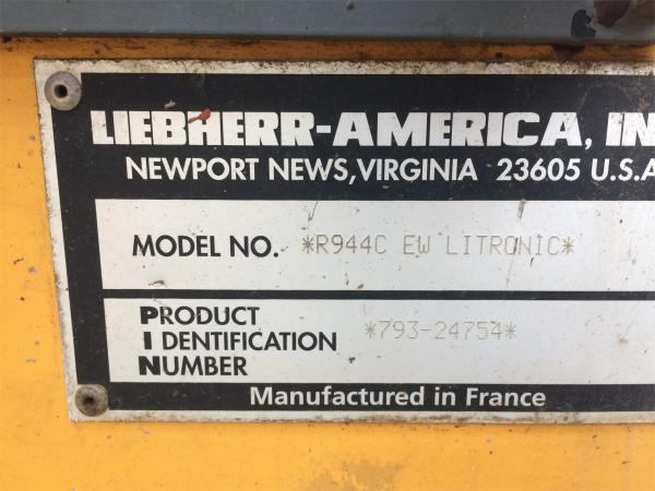 Detail photo of  Liebherr R944CLITRONIC from Construction Equipment Guide