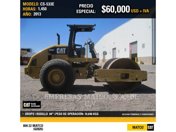 Detail photo of 2013 Caterpillar CP533E from Construction Equipment Guide